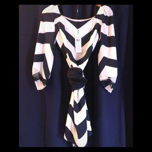DVF Striped shift dress